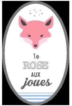 Le rose aux joues