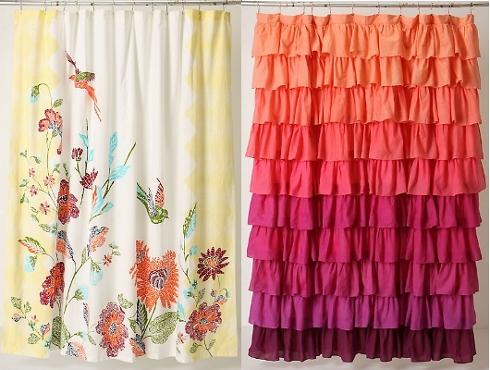 Le rose aux joues des accessoires de bain trendy sur - Rideaux de douche originaux ...