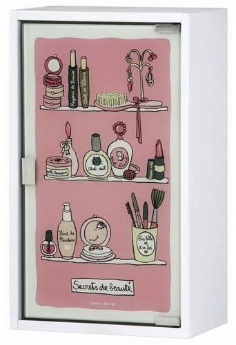 Le rose aux joues une salle de bain la d co girly - Accessoires salle de bain rose ...
