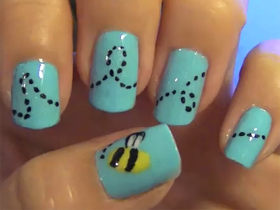 Ongle dessin facile good bonjour with ongle dessin facile for Dessin ongle facile a faire